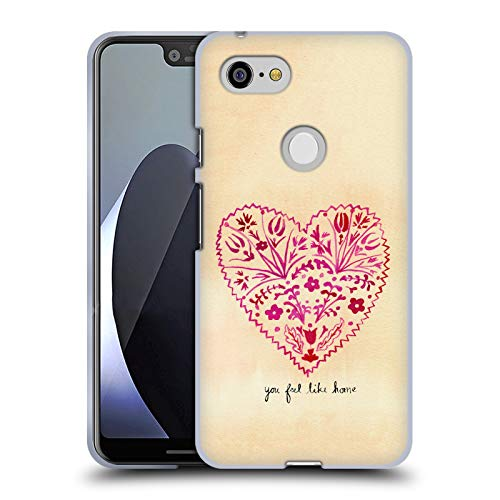 Price comparison product image Official Mai Autumn Folk Art Valentines Calligraphy Soft Gel Case for Google Pixel 3 XL