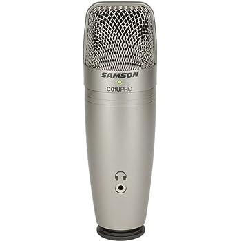 SAMSON C01U PRO - microfono professionale supercardioide USB a condensatore da studio con uscita cuffie