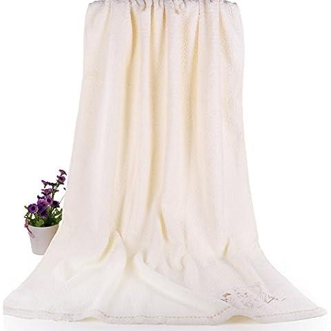 [toalla de baño]/Algodón niño recién nacido un paño suave y absorbente/ toalla de bordado pecho adulto femenino-B