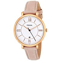 Fossil Women's ES3988 Jacqueline Blush Leather Strap Watch