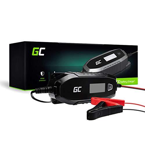 Green Cell® Batterieladegerät (AGM, Gel, MF, SLA, VRLA) Automatische Kompensation (Spannung 6V / 12V, 48W, 4A) Ladegerät mit Batterietester für Auto Motorroller Motorrad LKW Automobil ATV