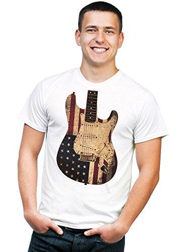 Retreez Vintage Old Glory US American Flag T-Shirt - Weiß - X-Klein