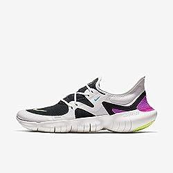 Nike Free Rn 5.0, Herren Laufschuhe, Weiß (Summit White/Volt Glow-Black-B 100), 42.5 EU (8 UK)