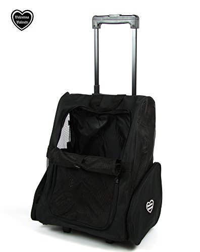 Valentina Valentti Deluxe Pet, Dog Travel Carrier Trolley Backpack with Wheels 4
