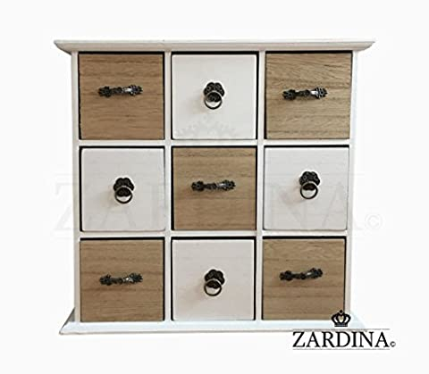 Vogue - Decorative Wooden Mini Chest of 9 Drawers