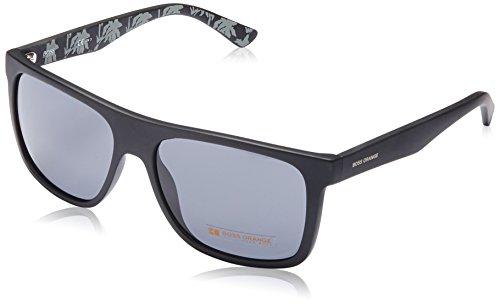 BOSS Orange Herren BO 0253/S BN Q80 Sonnenbrille, Schwarz (BKPTTRNWHITE/DK GREY), 56