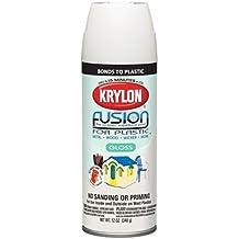 Krylon 2422 'Fusion for Plastic' Satin Dover White Plastic Paint - 12 oz. Aerosol by Krylon