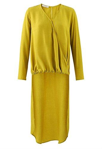 Promod Longue blouse cache-coeur Jaune vert