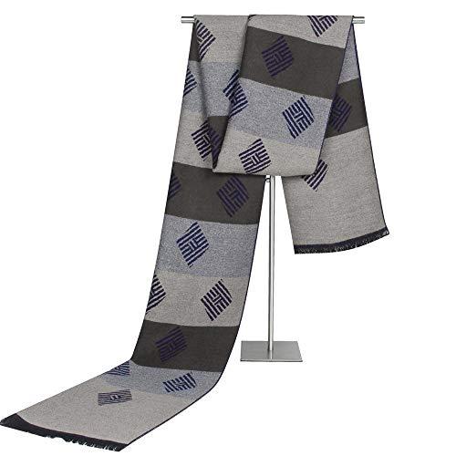 Relddd Herren schals Faux Cashmere Square Stripe Herren Schal Alten Schalldämpfer Ma Schal 30 x 180 cm Faux Cashmere
