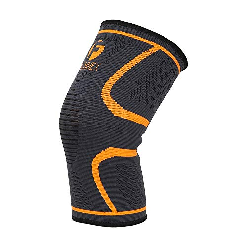 Fashnex Support Sleeve for knee cap pain, running, gym, sports for men & women (Single Pc), Orange, Medium Size