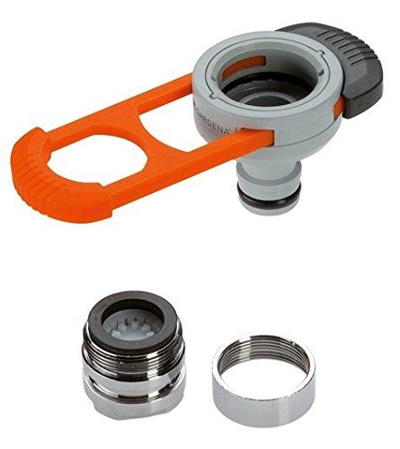 GARDENA Adapter für Indoor-Wasserhähne: Praktischer Adapter zum Anschluss des GARDENA Systems an einen Wasserhahn mit M 22 x 1 Außen- und M 24 x 1 Innengewinde (8187-20) -