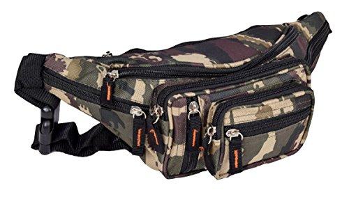 Sport Gürteltasche und Bauchtasche Outdoor Hüfttasche in Army Camouflage Muster 30x15 cm -