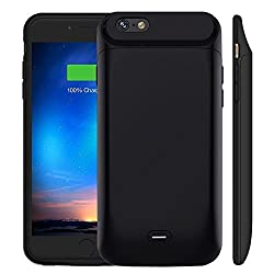 iPhone 8/7 Battery Case, MAXBEAR [5000mAh] Rechargeable External Battery Portable Enhance Extended Power Charger Protective Charging Case for iPhone 8/ iPhone 7 (4.7 Inch)-Black