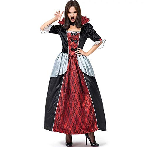 Kostüm Erwachsene Von Versailles Für Vampir - FHSIANN Erwachsene Frauen Halloween Gothic Vampire Lord Versailles Edle Königin Kostüm Stehkragen