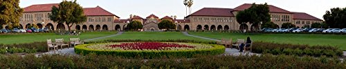 Panoramic Images - The Front of Stanford University in Palo Alto Santa Clara County California USA Kunstdruck (20,32 x 96,52 cm)