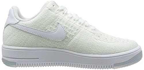 Nike W Af1 Flyknit Low, Chaussures de Sport Femme, Turquoise Blanc (blanc / blanc)