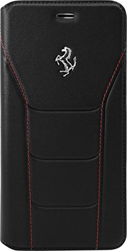 ferrari-488-genuine-leather-book-type-flip-case-for-apple-iphone-7-plus-black-silver-horse