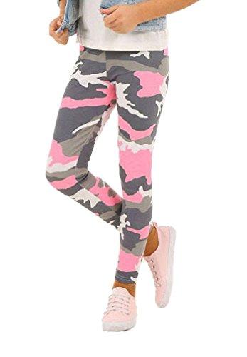 Camouflage Mädchen Leggings Leggins Hose Kinder hk262 122 Rosa
