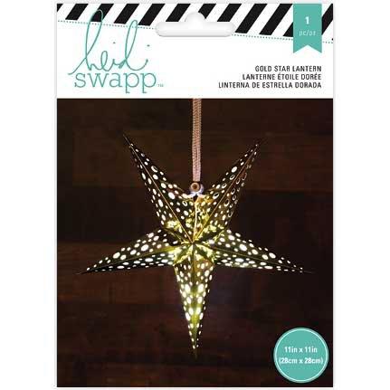 American Crafts Heidi Swapp 5 Star Lanterne en papier aluminium doré 28, acrylique, multicolore