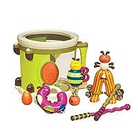 B. Toys - Parum Pum - Toy Drum Kit with 7 Musical Instruments for Kids 18 Months + (7-pcs) ,Multi-colour,BX1883C1Z