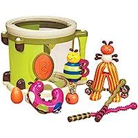 B. Toys – Parum Pum – Toy Drum Kit with 7 Musical Instruments for Kids 18 Months + (7-pcs) ,Multi-colour,BX1883C1Z