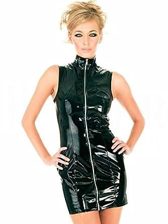 Honour Women S Sexy Dress In Black Pvc Rubber Samantha