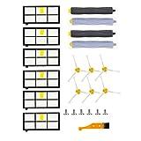 Roomba Kit de rechange pour aspirateur iRobot Roomba 800 805 850 860 865 866 870 871 880 886 890 891 895 896 900 960 965 966 980 17-teiliges Set