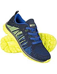 Mountain Warehouse Knitted Kids Trainers - Lightweight Childrens Shoes, Knitted Upper, Mesh Ventilation, Memory Foam Insole, Rubber Outsole -for Running, Walking, Hiking