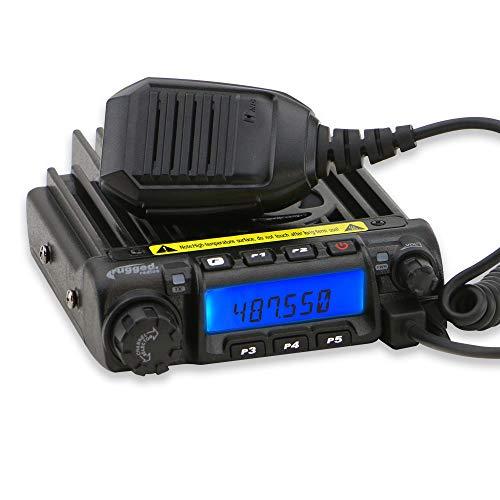Rugged Radios RM45-U 45 Watt UHF Zwei-Wege-Mobilfunkgerät mit Handmikrofon, Halterung und Montagezubehör -