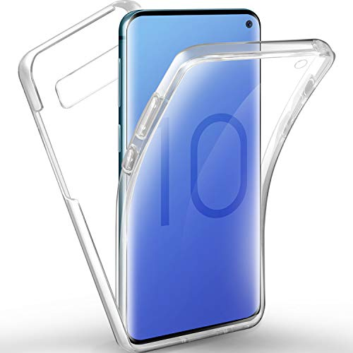 AROYI Samsung Galaxy S10 Hülle, Silikon Crystal Full Schutz Cover transparent TPU Ultra dünn Case Vorne und Hinten Schutzhülle für Samsung Galaxy S10 Full Cover