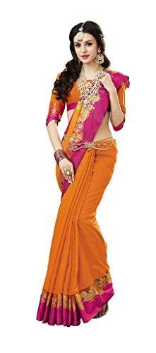 Ethnicjunction Silk Saree (Ej1155-2094_Orange)