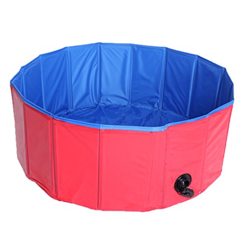 D DOLITY Foldable Extra Large Dog Pet Pool Bathing Tub (31.5 Inch X 11.81 Inch)