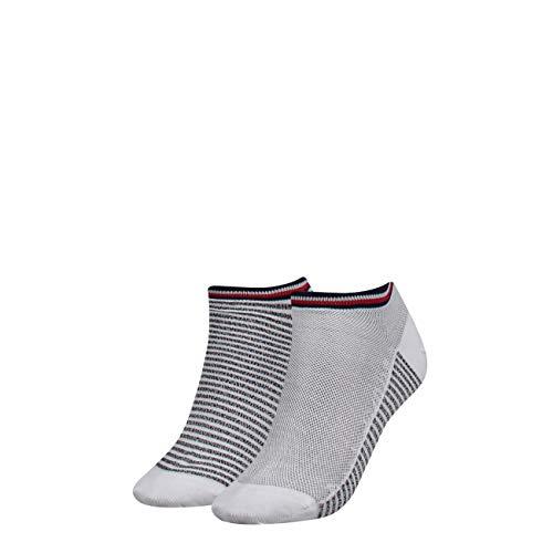Tommy Hilfiger Damen Socken TH Women Resort Sneaker 2P, 2er Pack, Mehrfarbig (White 300), 35/38 (Herstellergröße:035)