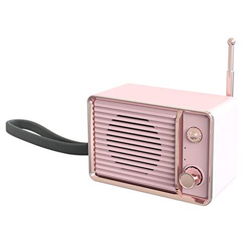 Huacat Bluetooth Lautsprecher Creative Portable Retro TV Mini Speaker für Indoor Outdoor Watt Wireless einfach tragbar wassergeschützt starker Akku 14 Stunden exzellenter Sound Beste Portable Ipod Speaker System
