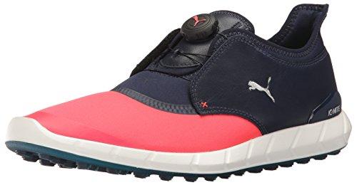 Puma Golf Men's Ignite Spikeless Sport Disc Shoes, Bright Plasma-Peacoat, 8 Medium US