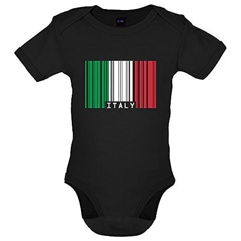 Italie / Italy - Drapeau Code Barre - Marrant Bébé-Body