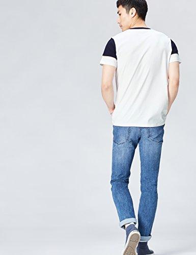 FIND Herren T-Shirt mit Logo-Print Weiß (White)