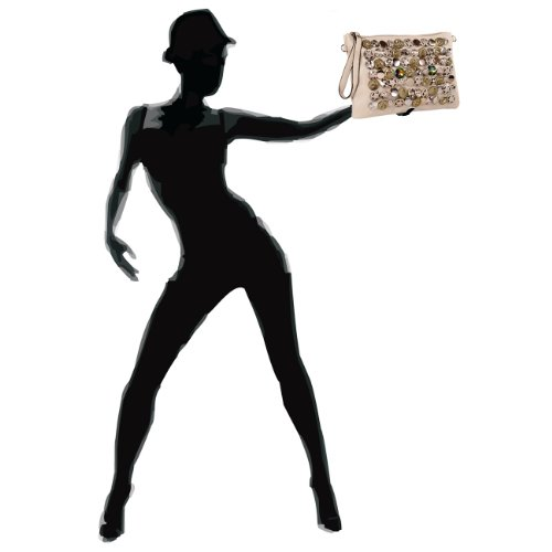 CASPAR Fashion, Borsa a tracolla donna (creme weiss)