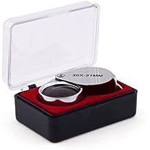 Demarkt Lupa de Ojo 30x21mm para Relojero 30 Aumentos Joyero Sellos Filatelia Joyas 2234