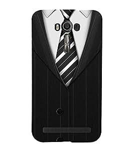 FUSON Formal Clothing Men 3D Hard Polycarbonate Designer Back Case Cover for Asus Zenfone 2 Laser ZE601KL (6 Inches)