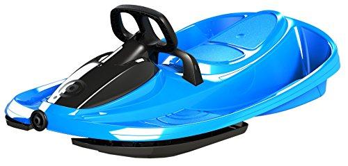 AIRJOY Lenkbob Kunststoffrodel Schlitten Snow Champ Deluxe - Blue
