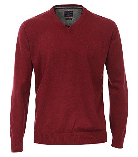 Casa Moda - Herren Pullover mit V-Ausschnitt in verschiedenen Farben (004130) Rot (427)