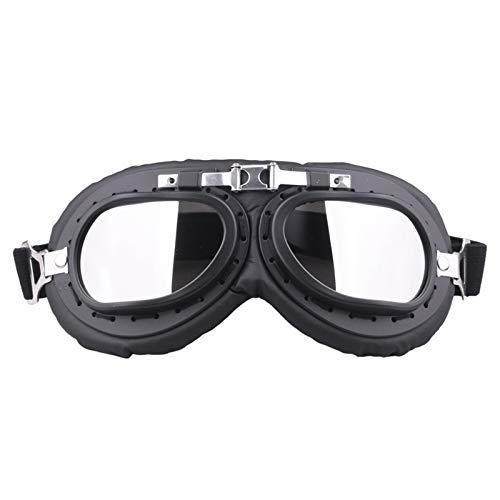 JVSISM Silber Winddicht Motorrad Fahrrad Schutz Brille Brille Anti Uv Motorrad Helm Brille Harley Kaffee Racing Beschützer