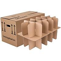 BB-Verpackungen Gläserkartons, 5 Stück, mit 15 Fächern Flaschenkartons für Umzug Verpackung Umzugskartons