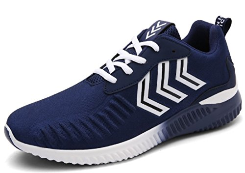 Men's Stretch Fabric Breathable Outdoor Athletic Running Shoes Navy