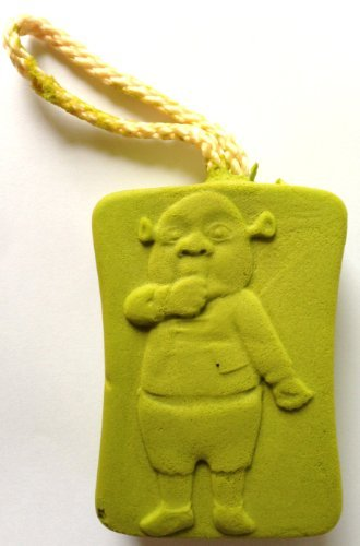 Dreamworks SHREK Bath & Shower Scrubbing and Exfoliating Sponge EXPANDS WHEN WET (FERGUS Baby Ogre) by Taikone Technologies, Inc. (Shrek Babys)