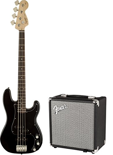 Fender 0301972606Electric Guitar Solid 4Strings Black Guitar-Gitarre