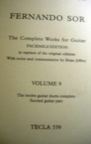 FERNANDO SOR THE COMPLETE WORKS FOR GUITAR  VOLUME 9OP 34/63
