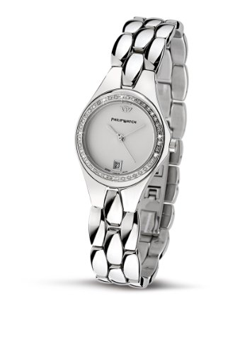 Philip Ladies Reflexion Analogue Watch R8253500853 with Quartz Movement, White Dial and Stainless Steel Case