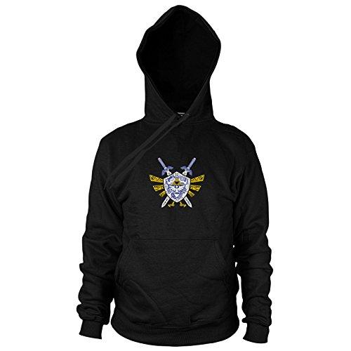 Link Elements - Herren Hooded Sweater, Größe: XXL, Farbe: (Pfeil Kostüm Bogen Schwarzer Und)
